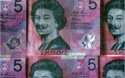 ink on Australian plastic bank notes