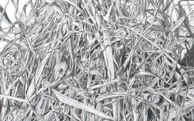detail of grass drawing
